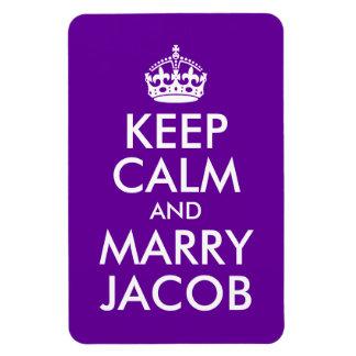 Keep Calm and Marry Jacob Rectangular Photo Magnet