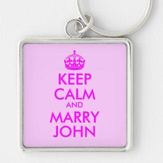 Keep Calm and Marry John Keychain