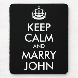 Keep Calm and Marry John Mousepad