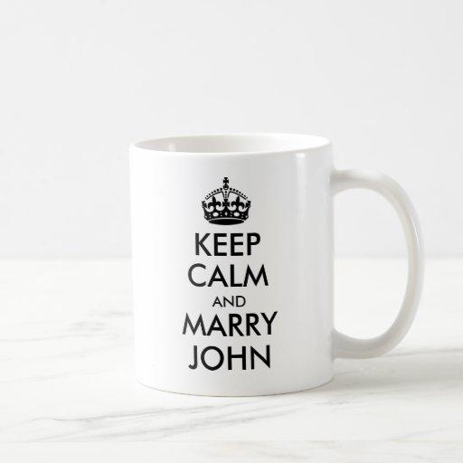 Keep Calm and Marry John Mug