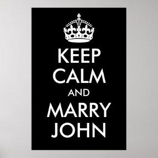 Keep Calm and Marry John Print