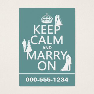 Keep Calm and Marry On (any color background)