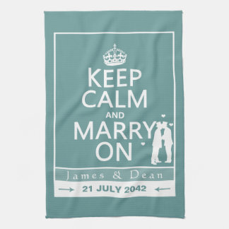 Keep Calm and Marry On Gay Wedding Towels