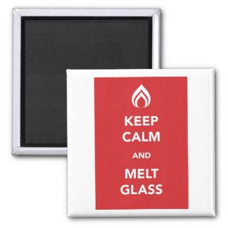Keep Calm and Melt Glass Fridge Magnets