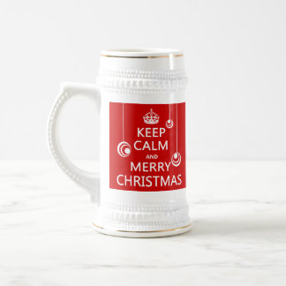 Keep Calm and Merry Christmas Beer Stein