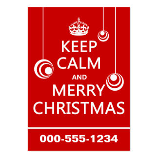 Keep Calm and Merry Christmas Business Cards