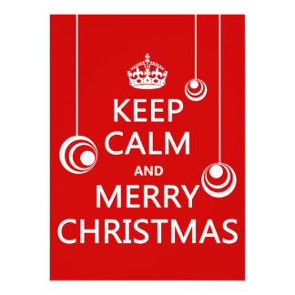 Keep Calm and Merry Christmas Personalized Announcements