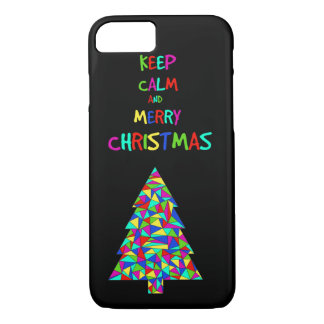 Keep calm and merry Christmas! iPhone 7 Case