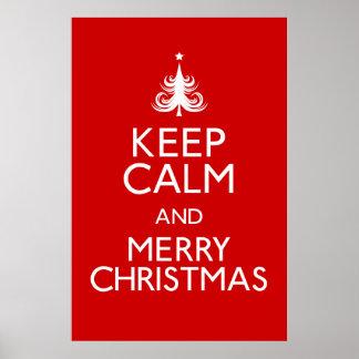 Keep Calm and Merry Christmas Poster