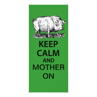 Keep Calm and Mother On Rack Cards