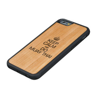 KEEP CALM AND MUAY THAI CARVED CHERRY iPhone 6 BUMPER CASE