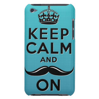 Keep Calm and Mustache ON Case-Mate iPod Touch Case