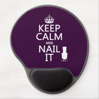 Keep Calm and Nail It (Nail polish) Gel Mouse Pad
