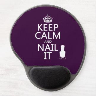 Keep Calm and Nail It (Nail polish) Gel Mouse Pad