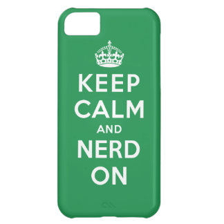 Keep Calm and Nerd On Case For iPhone 5C