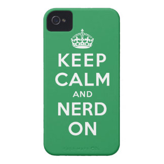 Keep Calm and Nerd On iPhone 4 Case-Mate Cases