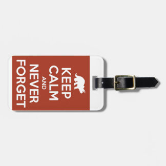 Keep Calm and Never Forget - Dinosaurs Luggage Tag