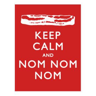 Keep Calm and Nom Nom Nom Bacon Postcards