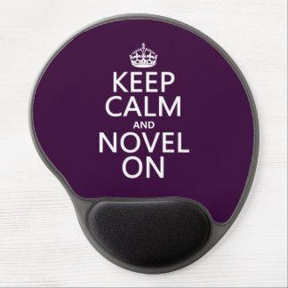 Keep Calm and Novel On Gel Mouse Pad