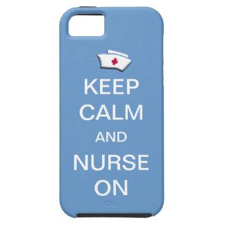 Keep Calm and Nurse On /Blue Sky iPhone 5 Covers