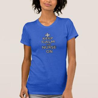 keep calm and nurse on rn doctor hospital nursing shirt