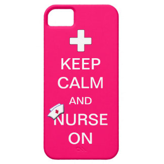 Keep Calm and Nurse On /White Cross and Nurse Cap iPhone 5 Covers