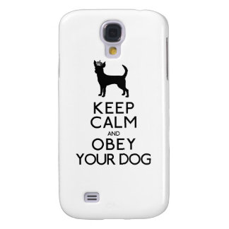 Keep Calm and Obey Your Dog Samsung Galaxy S4 Cases