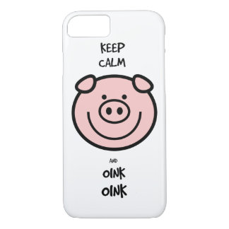 Keep calm and oink, oink! iPhone 7 case