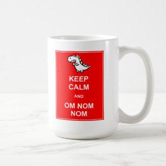 Keep Calm and Om Nom Nom Dinosaur Mug
