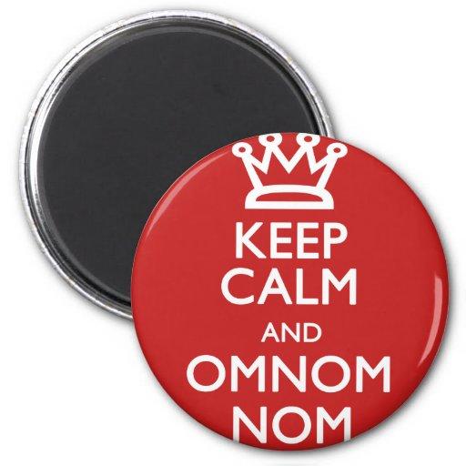 Keep Calm and OmNom Nom Refrigerator Magnets