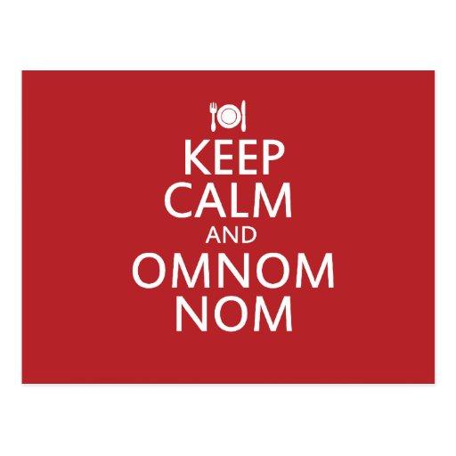 Keep Calm and Omnom Nom Post Cards