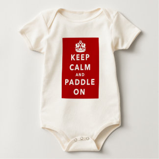 Keep Calm and Paddle On Baby Bodysuit