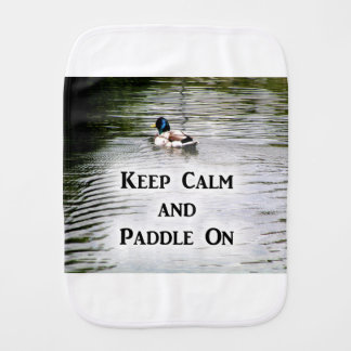 Keep Calm and Paddle On Baby Burp Cloths