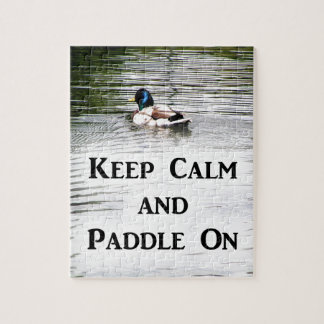 Keep Calm and Paddle On Jigsaw Puzzle