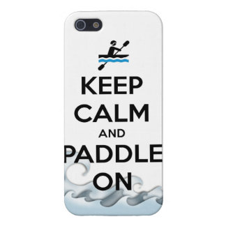 keep calm and paddle on kayak canoe water sports r iPhone 5/5S cover