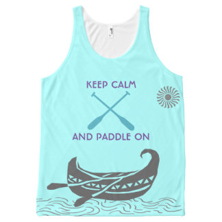 keep Calm And Paddle On Tank Tops
