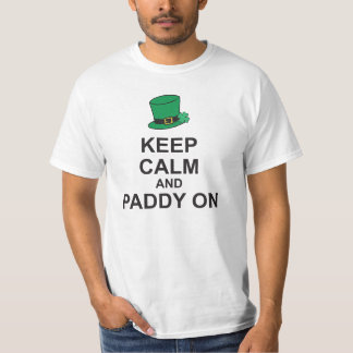 KEEP CALM and PADDY ON Patricks Day T-Shirt Hat