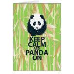 Keep Calm and Panda On Original Design Print Gift Cards