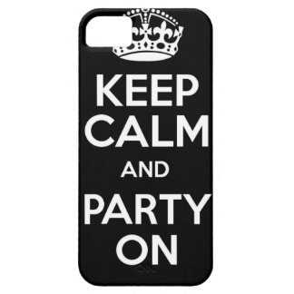 Keep Calm and Party On Barely There iPhone 5 Case