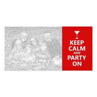 Keep Calm and Party On Custom Photo Card