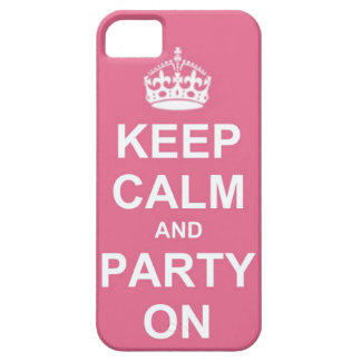 keep calm and party on iPhone 5 covers