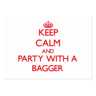 Keep Calm and Party With a Bagger Large Business Cards (Pack Of 100)