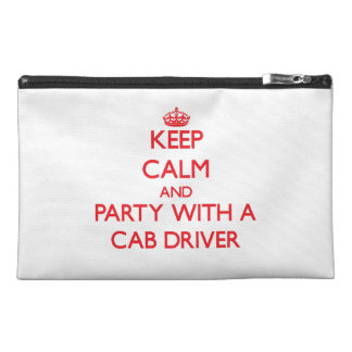 Keep Calm and Party With a Cab Driver Travel Accessory Bags