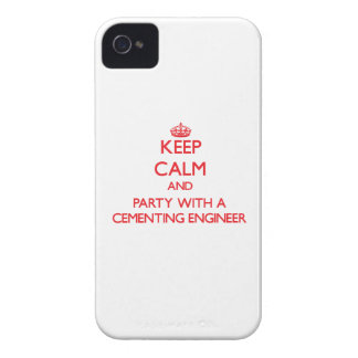 Keep Calm and Party With a Cementing Engineer iPhone 4 Case-Mate Cases
