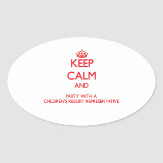 Keep Calm and Party With a Children's Resort Repre Stickers