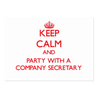 Keep Calm and Party With a Company Secretary Business Card