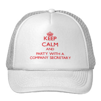 Keep Calm and Party With a Company Secretary Mesh Hats