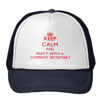Keep Calm and Party With a Company Secretary Mesh Hat