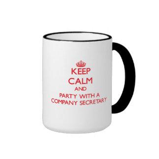 Keep Calm and Party With a Company Secretary Mug