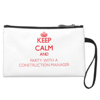 Keep Calm and Party With a Construction Manager Wristlet Purses